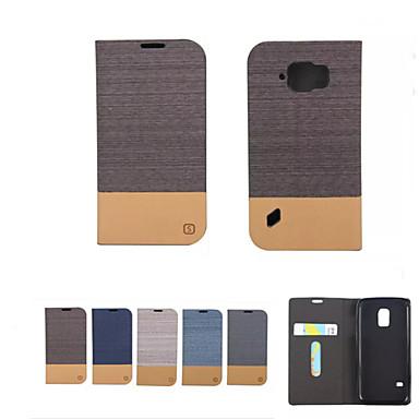 Capinha Para Samsung Galaxy Samsung Galaxy Capinhas Porta-Cartão Carteira Com Suporte Flip Capa Proteção Completa Côr Sólida Macia PU