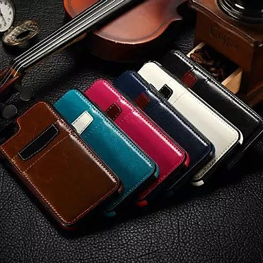 hoesje Voor iPhone 6 iPhone 6 Plus Kaarthouder Buideltas Effen Kleur Hard PU-leer voor iPhone 6s Plus iPhone 6 Plus iPhone 6s iPhone 6
