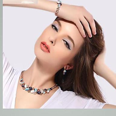 Dames Ketting / Oorbellen Kristal Opaal  Legering Bruiloft Feest Dagelijks Causaal Kostuum juwelen