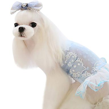 Hond Jurken Hondenkleding Modieus Strik Groen Blauw Kostuum Voor huisdieren