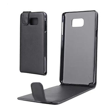 hoesje Voor Samsung Galaxy Samsung Galaxy Note Flip Volledig hoesje Effen Kleur PU-nahka voor Note 5 Note 4 Note 3 Note 2 Note