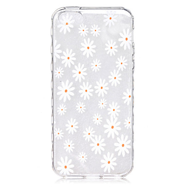 Para Capinha iPhone 5 Case Tampa Transparente Estampada Capa Traseira Capinha Flor Macia PUT para iPhone SE/5s iPhone 5