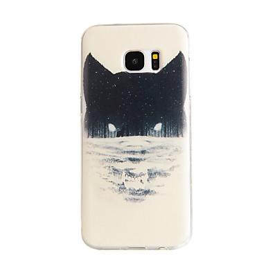 Voor Samsung Galaxy S7 Edge Patroon hoesje Achterkantje hoesje Kat TPU Samsung S7 edge / S7 / S6 edge / S6