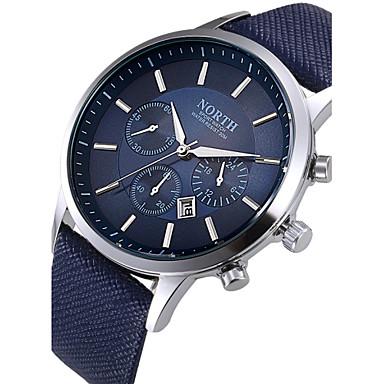 זול הנמכרים ביותר-בגדי ריקוד גברים שעון יד שעון תעופה קווארץ עור שחור / לבן / כחול לוח שנה מגניב יום תאריך אנלוגי קלסי אופנתי - שחור קפה כחול שנתיים חיי סוללה / מתכת אל חלד