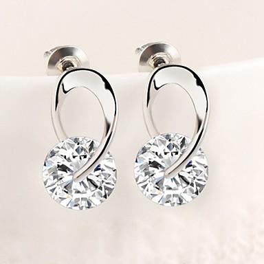 Brincos Curtos Brincos em Argola bijuterias Zircão Liga Jóias Para Casamento Festa Diário Casual Esportes
