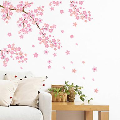 ราคาถูก Wall Art-ภูมิประเทศ Romance แฟชั่น ชุดรัดรูป ลวดลายดอกไม้ การเดินทาง แฟนตาซ๊ Botanical การ์ตูน วันหยุด สติกเกอร์ติดผนัง Plane Wall Stickers