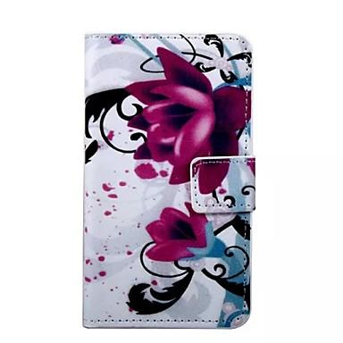 Para Samsung Galaxy Capinhas Carteira / Porta-Cartão / Com Suporte / Flip Capinha Corpo Inteiro Capinha Flor Couro PU Samsung S7