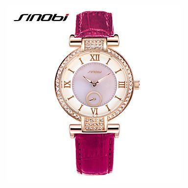 preiswerte Damen Uhren-SINOBI Damen Uhr Armbanduhr Diamond Watch Quartz Leder Lila 30 m Wasserdicht Analog damas Charme Modisch Purpur Grün / Zwei jahr / Zwei jahr / Sony SR626SW