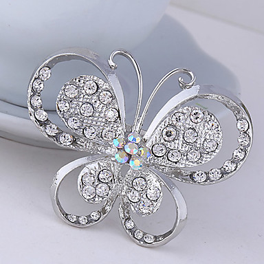 Women's Brooches - Crystal, Cubic Zirconia Butterfly, Animal Party, Work, Casual Brooch For Wedding / Party / Special Occasion