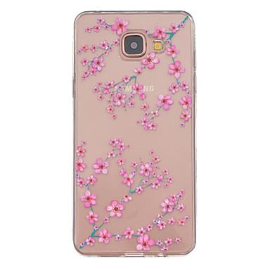 Para Samsung Galaxy Capinhas Case Tampa Transparente Estampada Capa Traseira Capinha Flor PUT para Samsung Galaxy A5(2016) A3(2016)