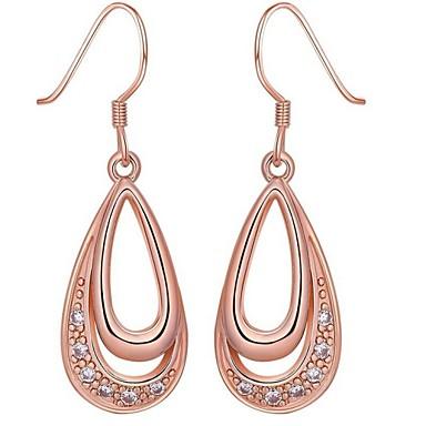 Druppel oorbellen Kristal Zilver Gouden Sieraden Voor Bruiloft Feest Dagelijks Causaal 1 Set