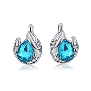 Oorknopjes Kristal Donkerblauw Paars Roos Blauw Sieraden Voor Bruiloft Feest Dagelijks Causaal 1 Set