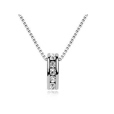 billige Mote Halskjede-Krystall Anheng Halskjede Enkel Klassisk Krystall Sølv Gylden Halskjeder Smykker Til