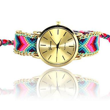Mulheres Relógio de Moda Quartzo Tecido Banda Cores Múltiplas