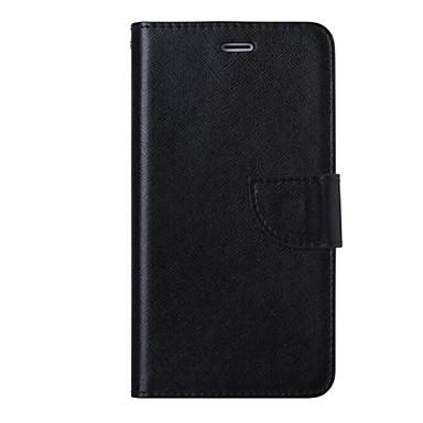 Capinha Para Apple iPhone 6 iPhone 6 Plus Porta-Cartão Carteira Com Suporte Flip Capa Proteção Completa Côr Sólida Rígida PU Leather para