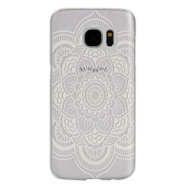 Para Samsung Galaxy S7 Edge Case Tampa Áspero Transparente Capa Traseira Capinha Flor PC para Samsung S7 Active S7 plus S7 edge plus S7