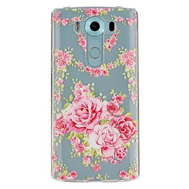 Για Θήκη LG Θήκες Καλύμματα Διαφανής Με σχέδια Πίσω Κάλυμμα tok Λουλούδι Μαλακή TPU για LG LG V10
