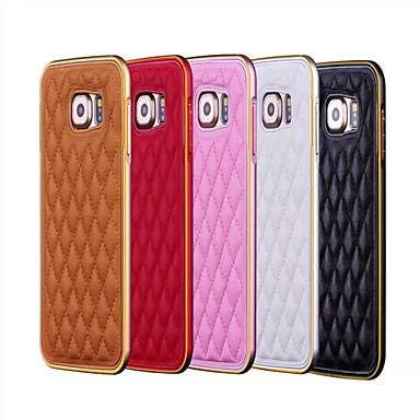 Para Samsung Galaxy Capinhas Case Tampa Galvanizado Capa Traseira Capinha Estampa Geométrica Couro Ecológico para Samsung Galaxy S6 edge