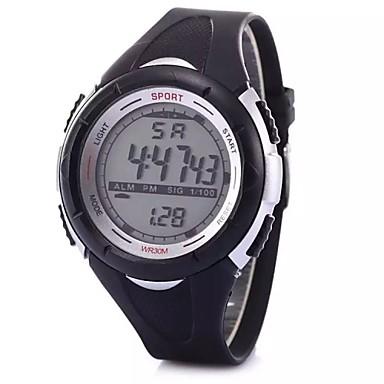 Kinderen Sporthorloge Modieus horloge Digitaal Alarm Kalender Chronograaf LCD Plastic Band Zwart