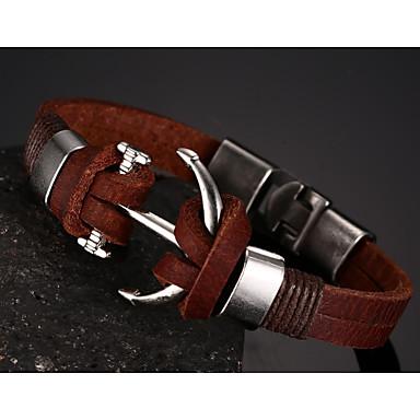 Heren Armbanden met ketting en sluiting Leder Sieraden Kerstcadeaus Feest Dagelijks Causaal Sport Kostuum juwelen