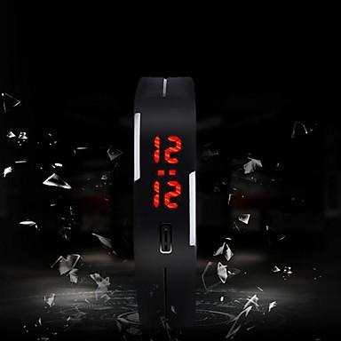 Homens Digital Relógio Esportivo Tela de toque LED Silicone Banda Amuleto Fashion Cores Múltiplas