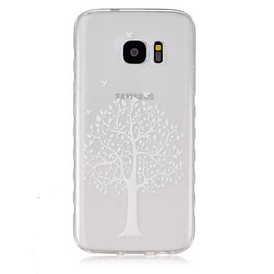 Недорогие Чехлы и кейсы для Galaxy S3-Кейс для Назначение SSamsung Galaxy S7 / S6 edge / S6 Прозрачный Кейс на заднюю панель дерево ТПУ