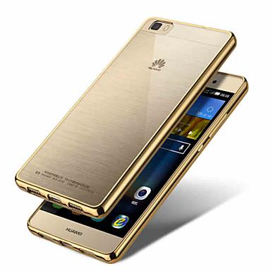 Fundas de luxo fino cristal chapeamento caso telefone macio TPU clara transparente de ultra tampa traseira para Huawei P8 / honor6 /