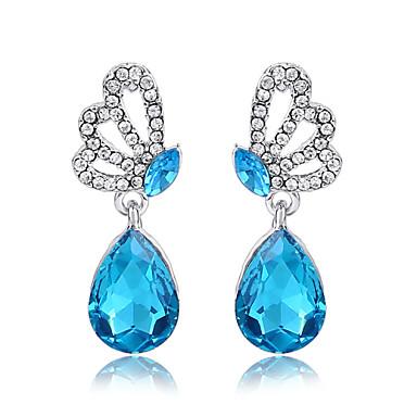 Druppel oorbellen Kristal Roos Rood Groen Blauw Lichtblauw Sieraden Voor Bruiloft Feest Dagelijks Causaal 1 Set
