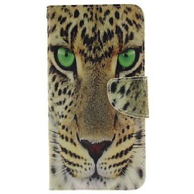 Para Samsung Galaxy Capinhas Porta-Cartão / Com Suporte / Flip / Estampada / Magnética Capinha Corpo Inteiro Capinha Animal Couro PU