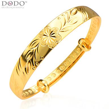 Feminino Bracelete bijuterias Chapeado Dourado Jóias Para Casamento Festa Diário Casual Presentes de Natal