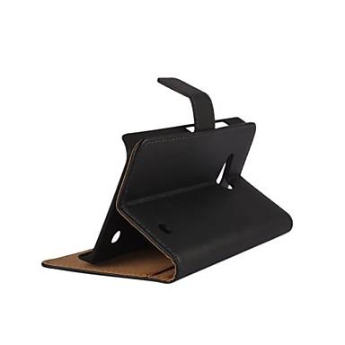 노키아 루미아 550에 대한 자석 스냅 및 카드 슬롯 단색 빛의 표면 패턴 PU 가죽 플립 케이스