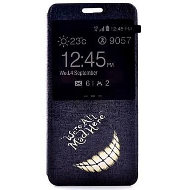 Capinha Para Samsung Galaxy Samsung Galaxy Capinhas Com Suporte com Visor Flip Capa Proteção Completa Palavra / Frase PU Leather para