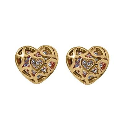 Oorknopjes Hart Kristal Hartvorm Zilver Gouden Sieraden Voor Bruiloft Feest Dagelijks Causaal 1 Set