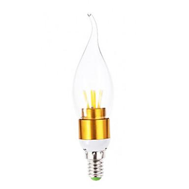 E14 Lâmpadas de Filamento de LED T 4 COB 3601 lm Branco Quente AC 220-240 V 1 pç
