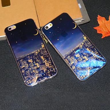 Voor iPhone 6 hoesje iPhone 6 Plus hoesje Hoesje cover Patroon Achterkantje hoesje Stadsgezicht Zacht TPU vooriPhone 6s Plus iPhone 6