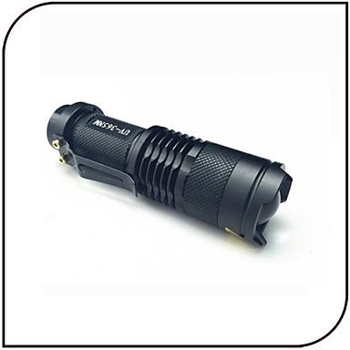 High-Low-Strobe LED-Zaklampen LED 250 lumens lm 3 Modus Cree Q5 Zoombare Verstelbare focus Schokbestendig Waterbestendig Zak