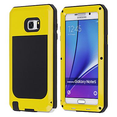 voordelige Galaxy Note-serie hoesjes / covers-hoesje Voor Samsung Galaxy Note 5 Schokbestendig Volledig hoesje Schild Metaal