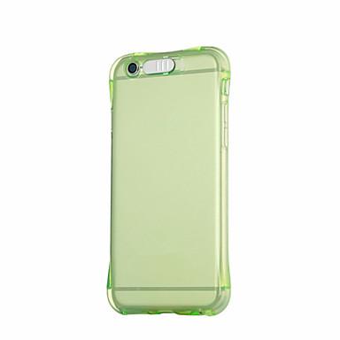 Case Kompatibilitás Apple iPhone 6 iPhone 6 Plus LED zseblámpa Fekete tok Egyszínű Puha TPU mert iPhone 6s Plus iPhone 6s iPhone 6 Plus