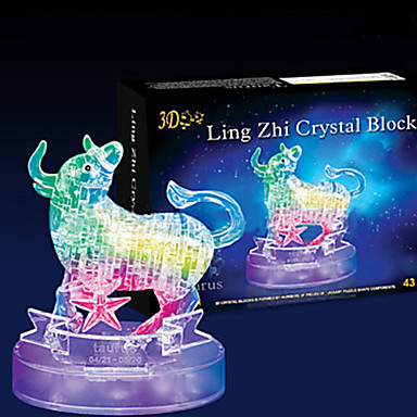 Quebra-Cabeças 3D Quebra-Cabeça Quebra-Cabeças de Cristal Brinquedos Touro 3D 43 Peças