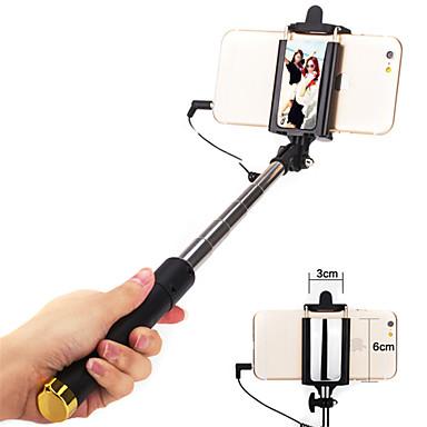 Selfie bot Vezetékes Összecsukható Max. Hosszúság 110cm Univerzális Android iOS Apple Samsung Galaxy Huawei