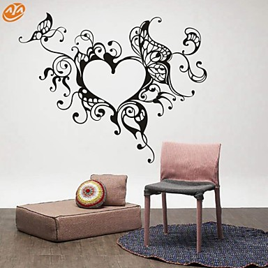 추상적인 로맨스 패션 Fantasy 벽 스티커 플레인 월스티커 데코레이티브 월 스티커, 비닐 홈 장식 벽 데칼 벽