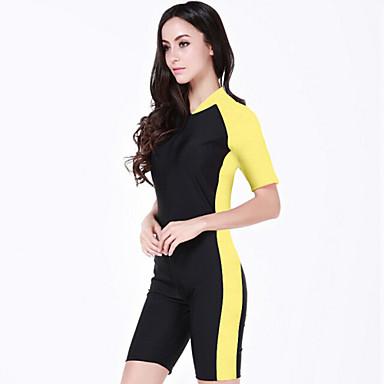 SBART 여성용 다이브 스킨 자외선 방지 풀 바디 친론 짧은 소매 다이빙 복 래쉬 가드 수영 다이빙 파도타기