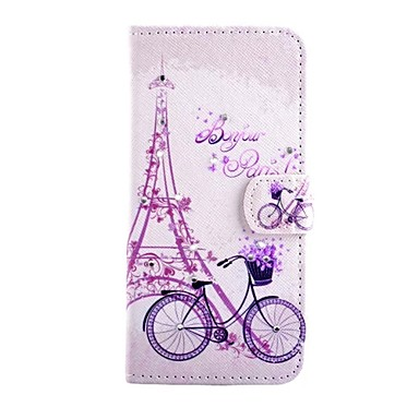 Case Kompatibilitás iPhone 5 Apple iPhone 5 tok Héjtok Eiffel torony Kemény PU bőr mert iPhone SE/5s iPhone 5