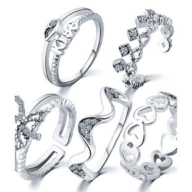 Gyűrűk Napi / Hétköznapi Ékszerek Ötvözet Vallomás gyűrűk 1set,Egy méret Aranyozott