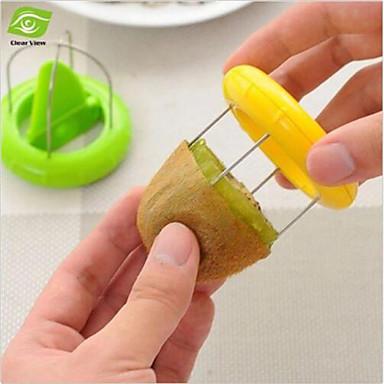 kiwi schillers en zesters fruit corers separator 2-in-1 snijder willekeurige kleur