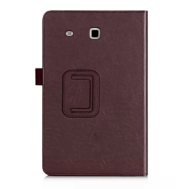 용 삼성 갤럭시 케이스 카드 홀더 / 스탠드 / 플립 케이스 풀 바디 케이스 단색 인조 가죽 Samsung Tab E 9.6