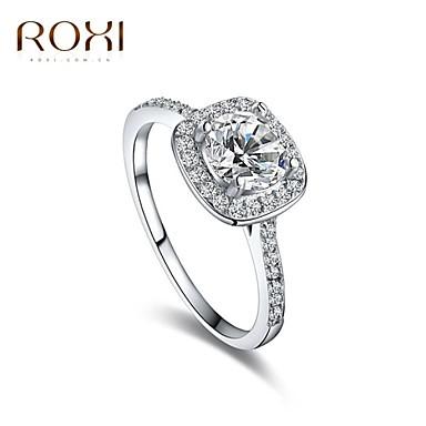 Mulheres Anel de declaração / Anel de Compromisso - Imitações de Diamante, Liga Trabalho, Fashion Ajustável Branco Para Diário