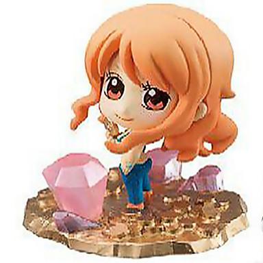 Anime Akciófigurák Ihlette One Piece Szerepjáték PVC 6 CM Modell játékok Doll Toy