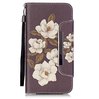 Mert iPhone 6 tok / iPhone 6 Plus tok Pénztárca / Kártyatartó / Állvánnyal / Flip / Minta Case Teljes védelem Case Virág Kemény Műbőr