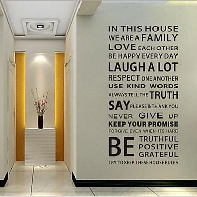 데코레이티브 월 스티커 - 벽과 스티커 Words & Quotes 거실 / 침실 / 다이닝룸 / 이동가능